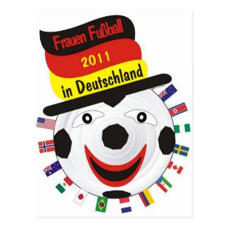 Cartão Postal Mulheres futebol 2011 Germany