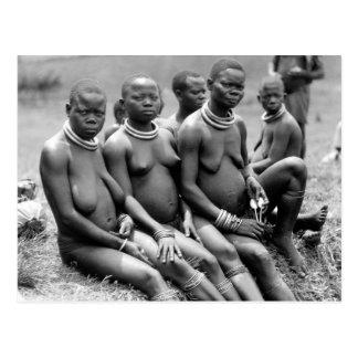 Cartão Postal Mulheres tribais de Uganda