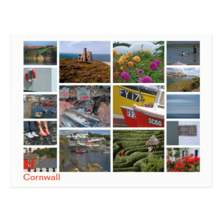 Cartão Postal Multi-imagem 2 de Cornualha