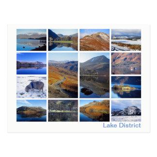 Cartão Postal Multi-imagem 2 do distrito do lago