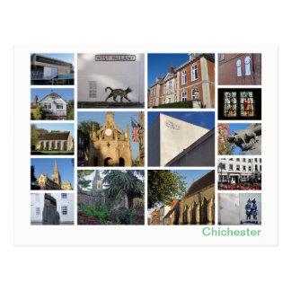 Cartão Postal Multi-imagem de Chichester