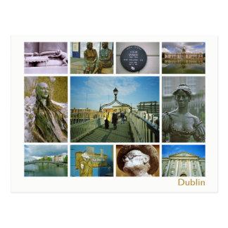 Cartão Postal Multi-imagem de Dublin