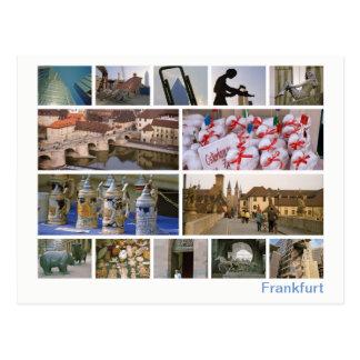 Cartão Postal Multi-imagem de Francoforte