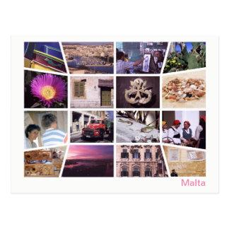 Cartão Postal Multi-imagem de Malta