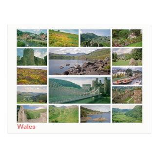 Cartão Postal Multi-imagem de Wales