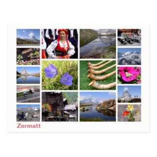 Cartão Postal Multi-imagem de Zermatt