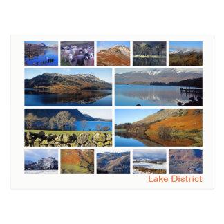 Cartão Postal Multi-imagem do distrito do lago