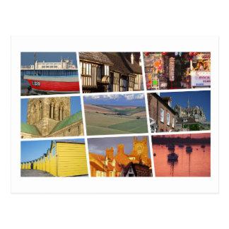 Cartão Postal Multi-imagem ocidental de Sussex