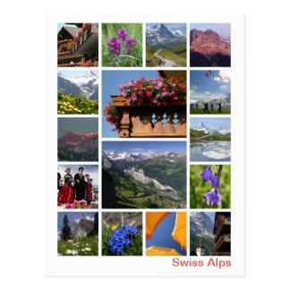 Cartão Postal Multi-imagem suíça 2 dos cumes