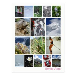 Cartão Postal Multi-imagem suíça 3 dos cumes