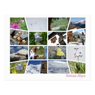 Cartão Postal Multi-imagem suíça 4 dos cumes