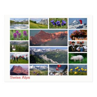 Cartão Postal Multi-imagem suíça dos cumes