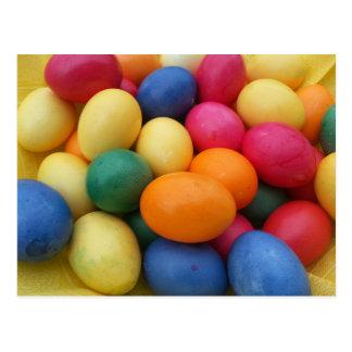 Cartão Postal Multi ovos da páscoa coloridos festivos