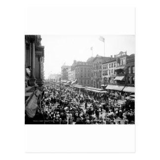 Cartão Postal Multidão do Dia do Trabalhador, búfalo, NY: 1900