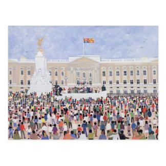 Cartão Postal Multidões em torno do palácio 1995