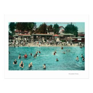Cartão Postal Multidões que nadam em Alameda BeachAlameda, CA