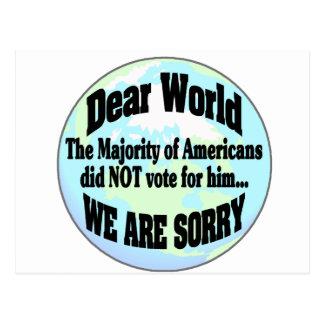 Cartão Postal mundo sorry2