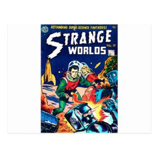 Cartão Postal Mundos estranhos -- Robôs irritados