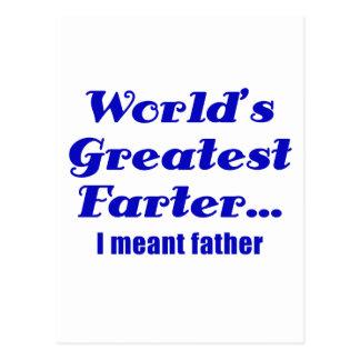 Cartão Postal Mundos o grande Farter eu signifiquei o pai