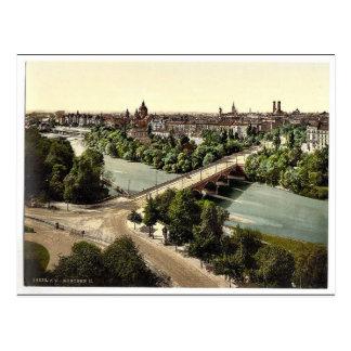 Cartão Postal Munich do Maximilianeum, Baviera, Alemanha vi