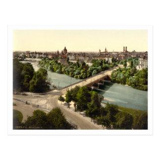 Cartão Postal Munich mim, Baviera, Alemanha