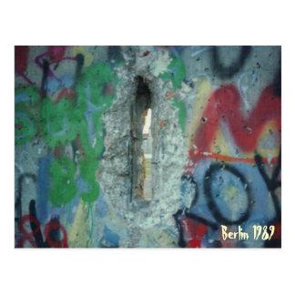 Cartão Postal Muro de Berlim - dois dias após - 1989