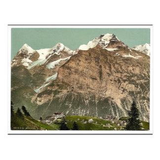 Cartão Postal Murren, vista geral, Bernese Oberland, Switzerlan