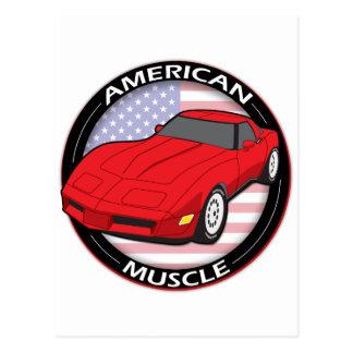 Cartão Postal Músculo da bandeira americana