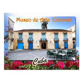 Cartão Postal Museu da arte colonial, Havana, Cuba