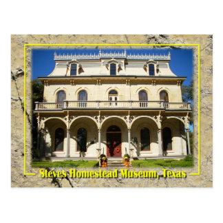 Cartão Postal Museu da herdade de Steves, San Antonio, TX
