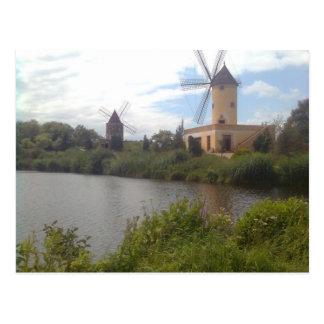 Cartão Postal Museu de moinho de vento Gifhorn