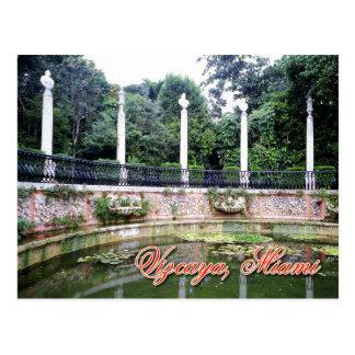Cartão Postal Museu de Vizcaya e jardins, Miami, Florida