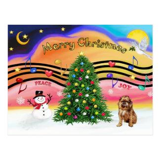 Cartão Postal Música 2 do Natal - Bruxelas Griffon 1
