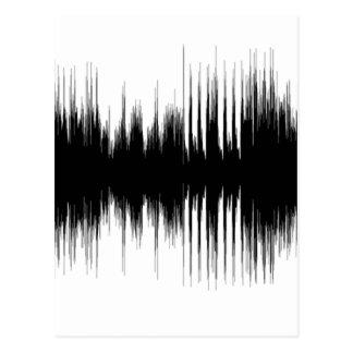 Cartão Postal Música auricular audio Recording.pn musical da