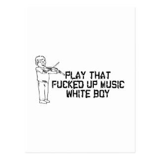 Cartão Postal Música branca do menino