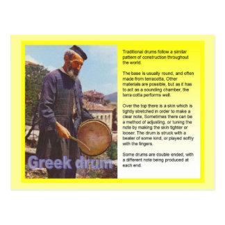 Cartão Postal Música, cilindro grego