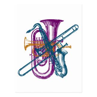 Cartão Postal Música do carnaval