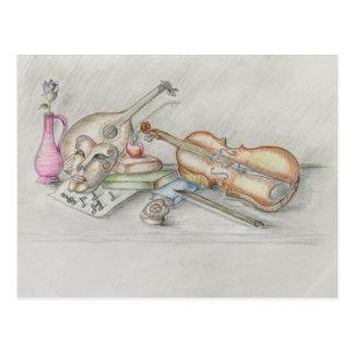 Cartão Postal Música dos instrumentos