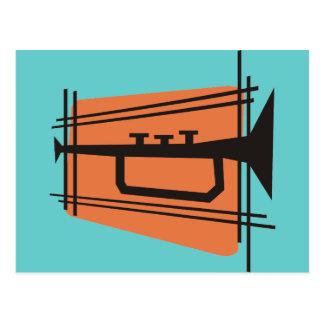 Cartão Postal Música no bronze