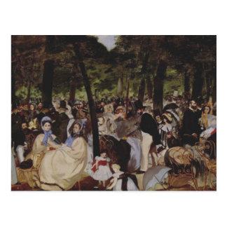 Cartão Postal Música no Tuileries