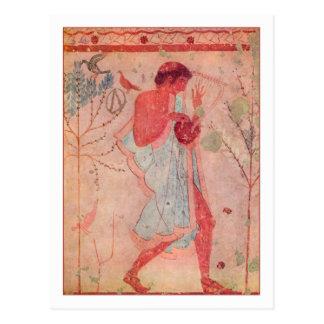 Cartão Postal Músico de Etruscan