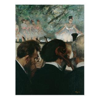 Cartão Postal Músicos da orquestra de Edgar Degas |