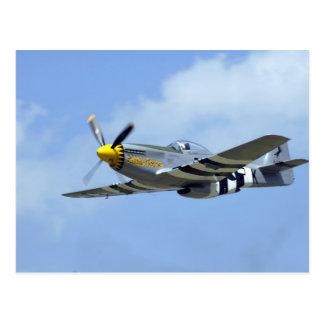 Cartão Postal Mustang norte-americano de P-51D, cavalo pequeno