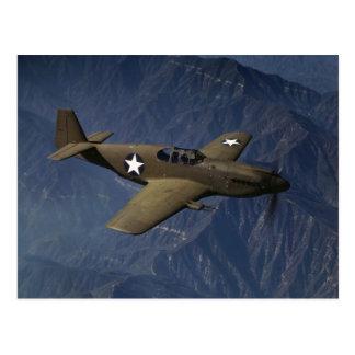 Cartão Postal Mustang P-51 em vôo, 1942