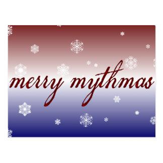 Cartão Postal Mythmas alegre