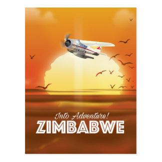 Cartão Postal Na aventura! Poster de viagens de Zimbabwe
