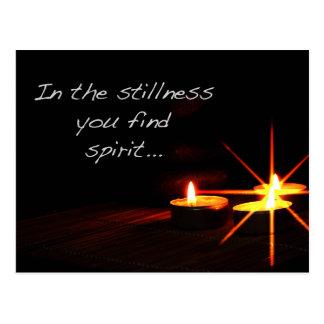 Cartão Postal Na calma você encontra o espírito