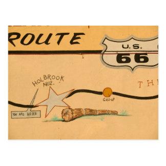 Cartão Postal NA, EUA, arizona, pintura mural da estrada da rota