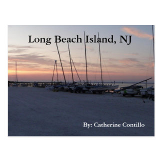 Cartão Postal Na ilha NJ de Long Beach pela baía