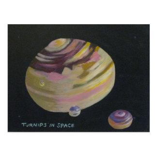 Cartão Postal Nabos no espaço